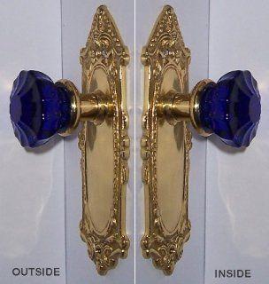 Cobalt Blue & Natural Brass Leafn Shell Hand Forged Plates, Astoria
