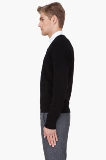Raf Simons Black Angora Wool Sweater for men