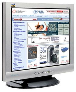 Viewsonic VA720 17 inch Flat Panel Monitor (Refurbished)