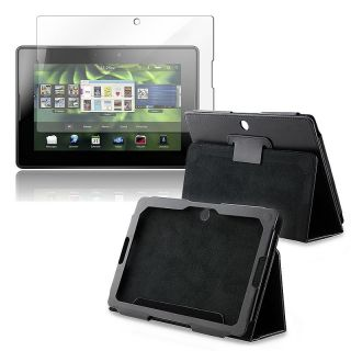 Leather Case/ Screen Protector for BlackBerry Playbook