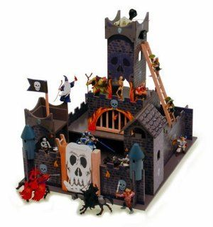 Wooden Skull Fortress Castle: Toys & Games