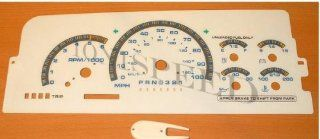 96 97 98 Chevy Tahoe, CK, GMC Silverado, Suburban White Face Gauges