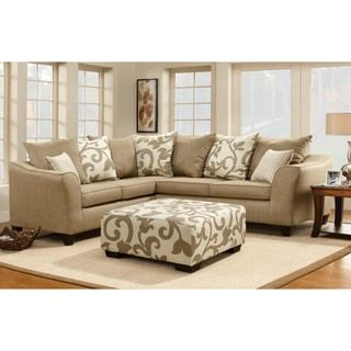 Enitial Lab Bernice Sand Stone Fabric Sectional