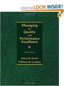 Managing for Quality and Performance Excellence James R. Evans