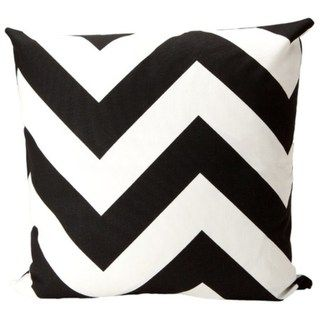 Elisabeth Michael Chevron Black/ White Decorative Throw Pillow