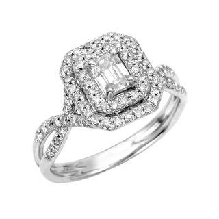 New 14k White Gold 5/8ct TDW Diamond Engagement Ring (G, SI1