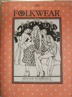 Folkwear #239 Blonde Bombshell Marilyn Monroe Dress 1950s