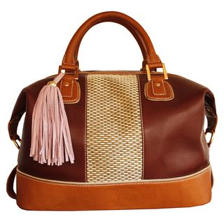Claudia G. Alessa Large Leather Satchel Bag