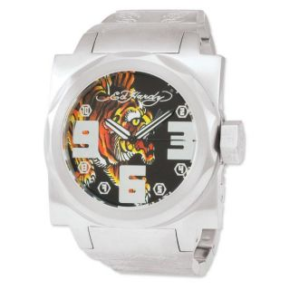 Ed Hardy Mens Baragon Tiger Stainless Steel Watch