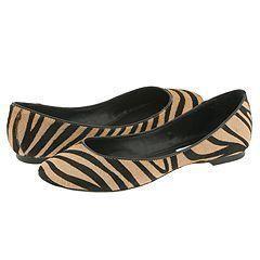 Steve Madden Kelsi Black/Tan Zebra Flats