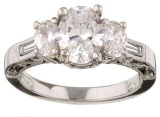 Tacori Platinum 3/4ct TDW Diamond Engagement Ring (G, VS)