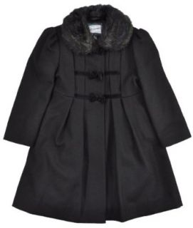 Rothschild Girls Velvet Bows and Faux Fur Trim Wool Dress