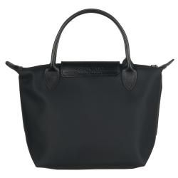 Longchamp Mini Planetes Black Nylon Tote Bag