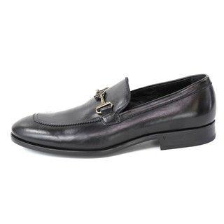 Robert Cavalli Mens Vitellino Nero/Camoscio Dress Shoes