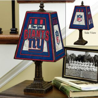 New York Giants 14 inch Art Glass Lamp