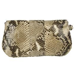Jimmy Choo Zeta Msk Embossed Snakeskin Clutch