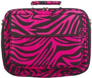 Hot Pink Zebra Padded Laptop Notebook Computer Case Bag