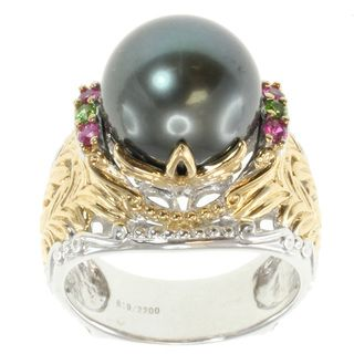 Michael Valitutti Two tone South Sea Pearl Ring