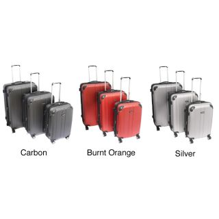 Kemyer Expandable Hardside Lightweight 3 piece Spinner Luggage Set