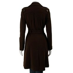 Cole Haan Womens Wool Cashmere Trench Coat