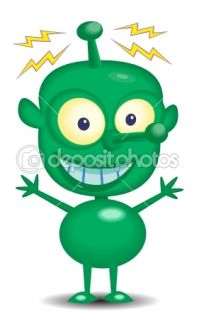 Martian Cartoon Character  Stock Vector © KK Inc #10460296