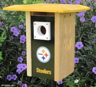 Pittsburgh Steelers Wooden Bird House Sports & Outdoors