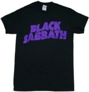 Black Sabbath Logo Black T Shirt Clothing
