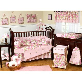Sweet Jojo Designs Pink Camo 9 piece Crib Bedding Set Today $179.99