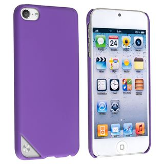 BasAcc Purple Rubber Coated Case for Apple iPod Touch 5th Generation