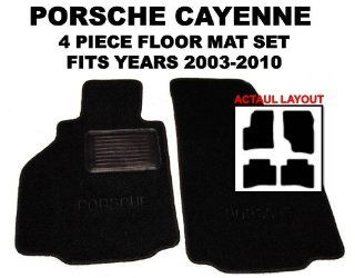 Porsche Cayenne OEM *BLACK* Floor Carpet Mats Matting (Two Piece Front