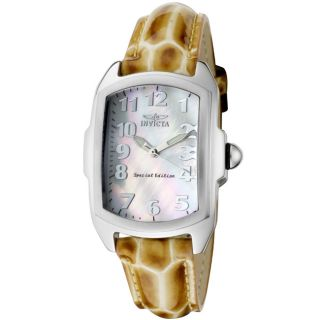 Invicta Womens Lupah Light Brown Patent Leather Watch