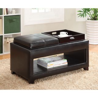 Vanity Storage Bench with Flip top Tray