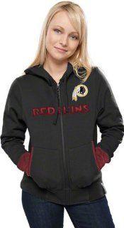 Washington Redskins Womens Chant Black Full Zip Hooded