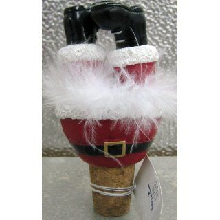 Ganz Christmas Wiggle Wine Stopper Santa: Everything Else