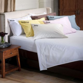Hotel Fine Linens 380 Thread Count Percale Twin/ Full size Sheet Set