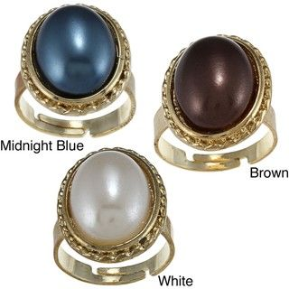 Amrita Singh Oval Faux Pearl Ring