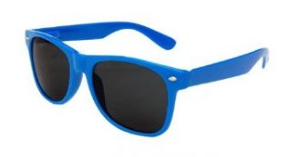 Solid Neon Wayfarer Sunglasses by Qlook, Blue Clothing