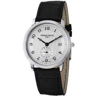 Frederique Constant Mens FC 245AS4S6 Slim Line Black Leather Strap