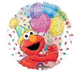 See through Party Elmo Confetti 18 Balloon Mylar: Health