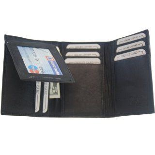 New Flip Up Mens Wallet & Card Holder Trifold BK #239