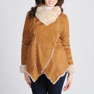 Mo Ka Womens Chestnut Faux Shearling Jacket