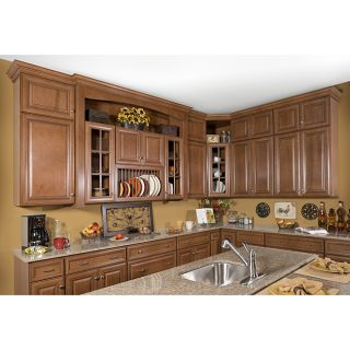 Honey Stain/Chocolate Glaze Wall Blind Corner Kitchen Cabinet (30x36