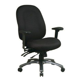 High Back Office Chair with Seat Slider Fabric Transport