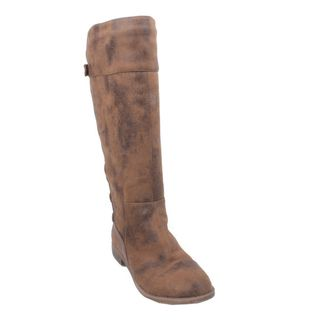 Elegant by Beston Womens Jency 3 Taupe Knee high Riding Boots