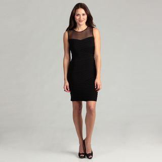 Calvin Klein Womens Black Pleated Dress