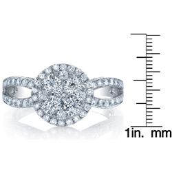 18k White Gold 1 1/2ct TDW Diamond Engagement Ring (G H, SI1 SI2