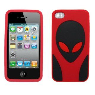 ALIEN E.T. ET Silicone Skin Case Cover (RED) for Apple iPhone 4S / 4G