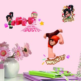 Wreck It Ralph Peel and Stick Wall Decals Set
