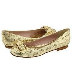 Juicy Couture Polly Gold Flat