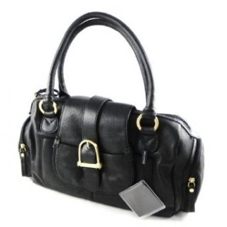Bowling leather bag Ted Lapidus black full grain